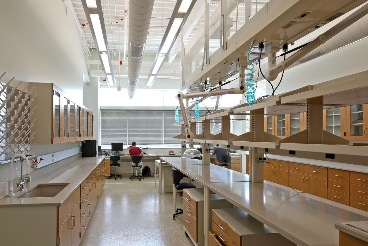 Charles McC. Mathias Lab interior lab space