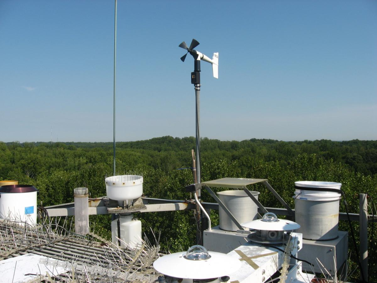 View from SERC's meteorological tower