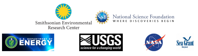 funder logos (SERC, NSF, U.S. Dept. of Energy, USGS, NASA and Md. Sea Grant)