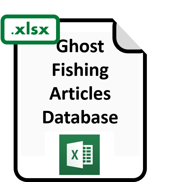 Excel file  of ghost fishing article database