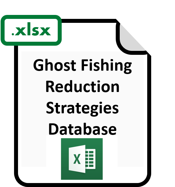 Excel file of ghost fishing reduction strategies database