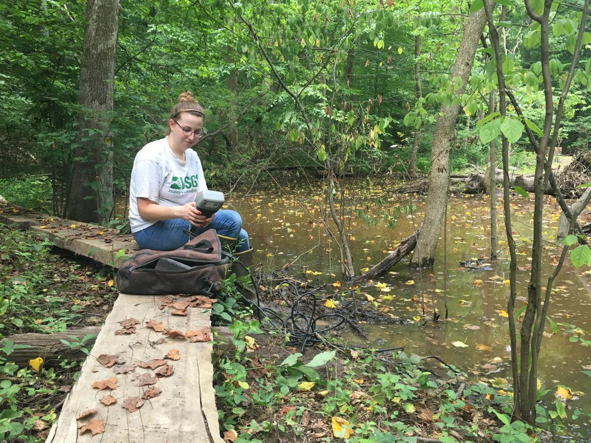 Intern at Muddy Creek stream restoration