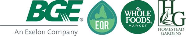 Sponsor Logos: BGE, EQR, Whole Foods Market and Homestead Gardens