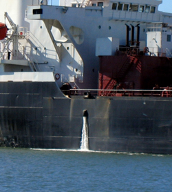 Ballast water discharge in California