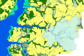 map of land use and sample site