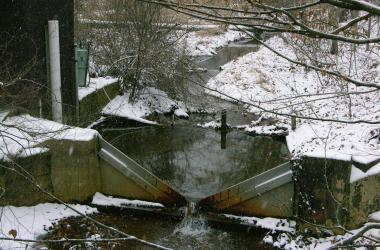 Winter stream flow