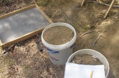 buckets and soil seive