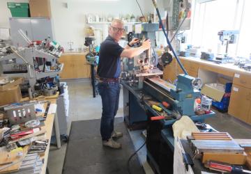 volunteer using machinery