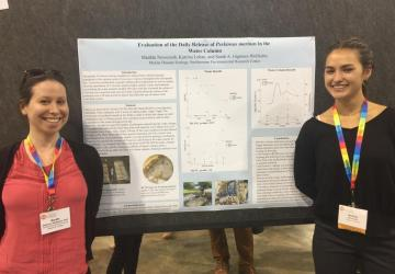 Intern Tillie presents research at CERF 2019