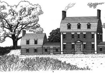 Contee Mansion drawing