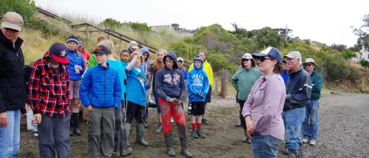 Group listening to instructions