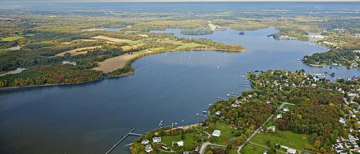 MarineGEO SERC aerial view of Rhode River