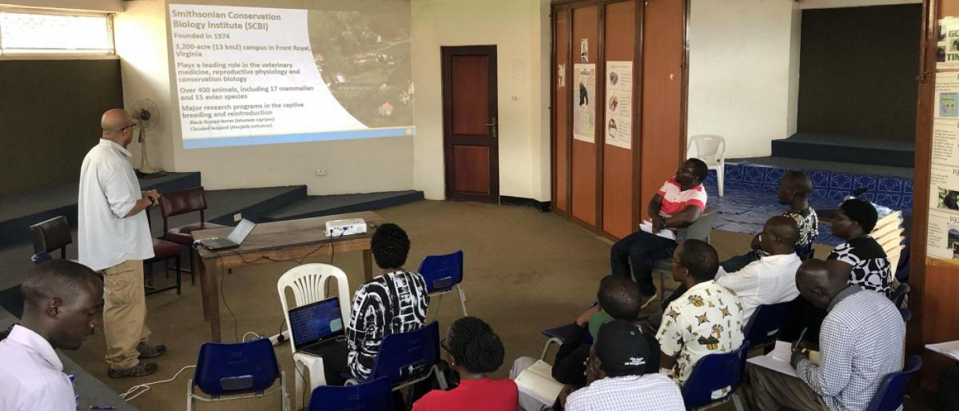 Smithsonian led training in Uganda
