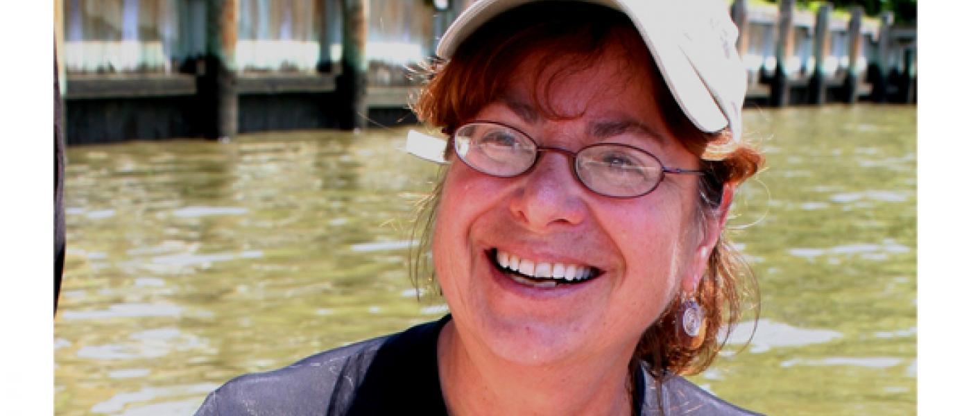Denise Breitburg in river