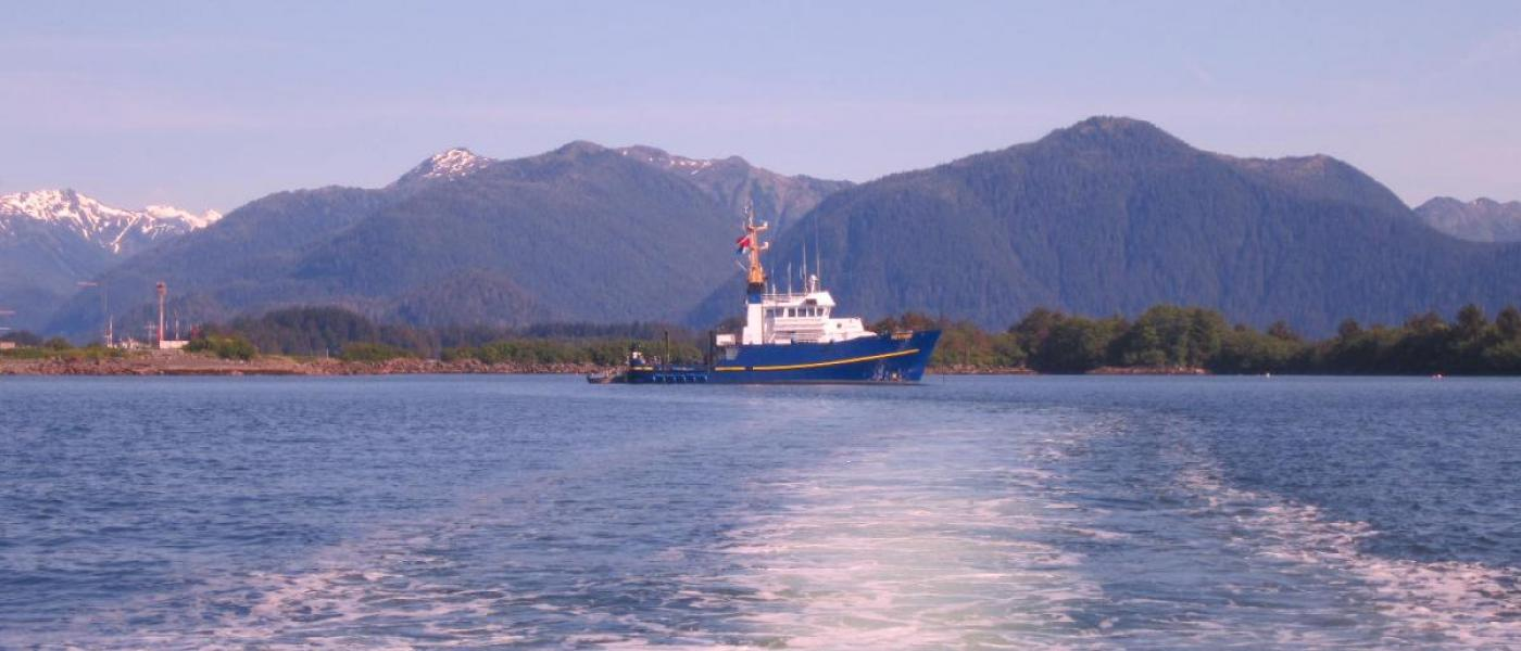 View leaving ADF&G Research Vessel Kestrel