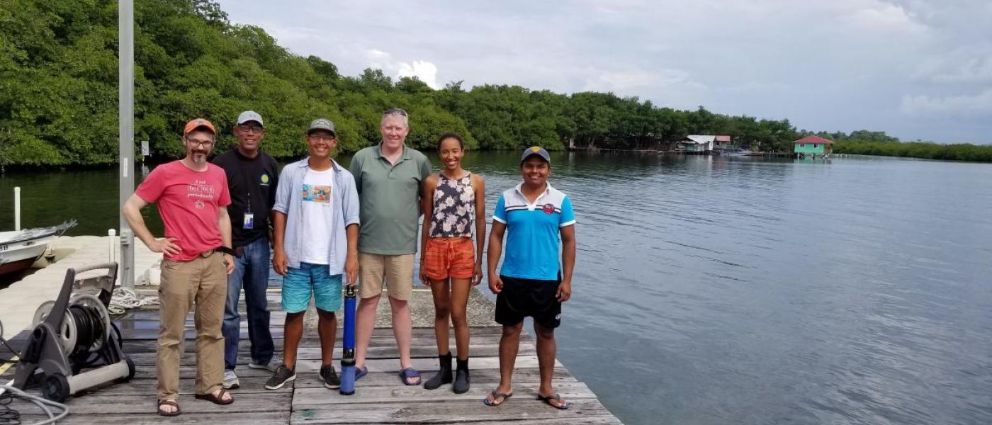 Scientists at wetland